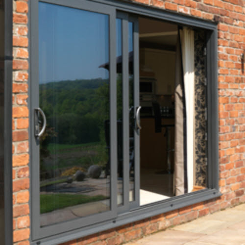 Mastercraft ltd aluminium dual or triple track sliding doors for Aluminum sliding glass doors